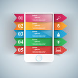 3D Infographic Smartphone Ikone Lizenzfreies Stockfoto