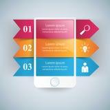 3D Infographic Smartphone Ikone Stockfotos