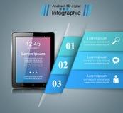 3D Infographic Smartphone Ikone Lizenzfreie Stockfotos