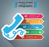 3D Infographic Smartphone Ikone Stockfoto