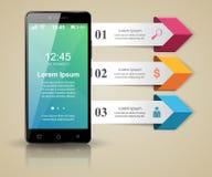 3D Infographic Smartphone symbol Royaltyfri Bild