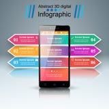3D Infographic Smartphone symbol Arkivfoto