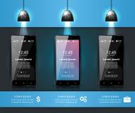 3D Infographic Smartphone symbol Arkivbild