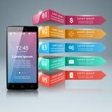 3D Infographic Smartphone symbol Royaltyfri Fotografi