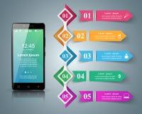 3D Infographic Smartphone symbol Royaltyfria Bilder