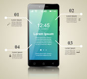 3D Infographic Smartphone symbol vektor illustrationer