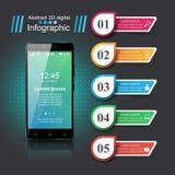 3D Infographic Smartphone symbol royaltyfri illustrationer