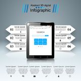 3D Infographic Smartphone, Tablettenikone Stockfotografie