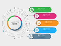 3D Infographic szablon Fotografia Stock