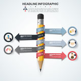 3d Infographic Template. Data Visualization. Can be used for work Stock Photos