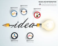 3d Infographic Template. Data Visualization. Can be used for work Royalty Free Stock Photography