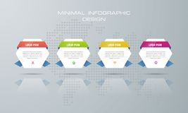 3d Infographic template with 4 options royalty free illustration