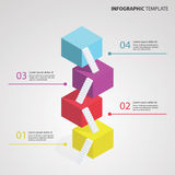 3D Infographic Template. Vector Illustration Stock Illustration