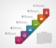 3D Infographic Trappa av framgång i affär Arkivfoto