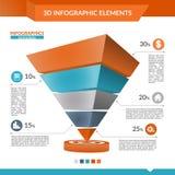 3d infographics ostrosłupa mapa Obrazy Royalty Free