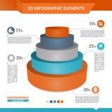 3d infographics ostrosłupa mapa Obrazy Stock