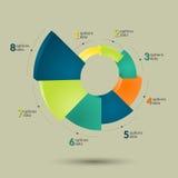 3d infographics pasztetowa mapa Fotografia Royalty Free