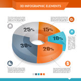3d infographics pie chart. Stock Photography