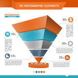 3d infographics pyramid chart. 3d infographics pyramid chart for your Business reports and financial data presentation Royalty Free Stock Images