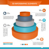 3d infographics pyramid chart. 3d infographics pyramid chart for your Business reports and financial data presentation Stock Images