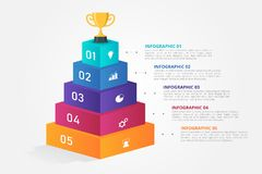 3D Infographics template for business, education, web design, banners, brochures, flyers. Infographics template for business, education, web design, banners stock illustration