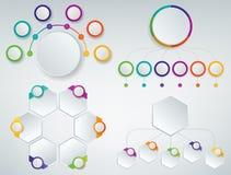 3D Infographics templates set. Business presentation concept. Vector. Illustration Royalty Free Stock Photo