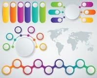 3D Infographics templates set. Business presentation concept. Vector. Illustration Stock Image