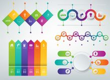 3D Infographics templates set. Business presentation concept. Vector Royalty Free Stock Images