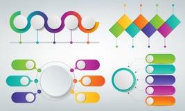 3D Infographics templates set. Business presentation concept. Vector. Illustration Stock Photography