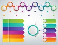 3D Infographics templates set. Business presentation concept. Vector. Illustration Stock Images