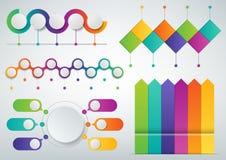 3D Infographics templates set. Business presentation concept. Vector. Illustration Royalty Free Stock Photos
