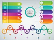 3D Infographics templates set. Business presentation concept. Vector. Illustration Stock Photo