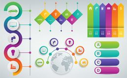 3D Infographics templates set. Business presentation concept. Vector Royalty Free Stock Photo