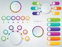 3D Infographics templates set. Business presentation concept. Vector. Illustration Stock Photos
