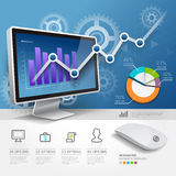 3d infographics web design template. Royalty Free Stock Images
