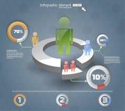 3d infographicsit Vector ontwerpmalplaatje Royalty-vrije Stock Foto's