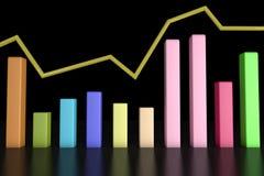3d informatie-grafische bar Royalty-vrije Stock Fotografie