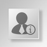 3D Information Button Icon Concept Stock Image