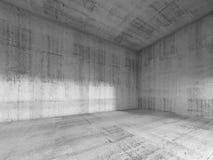 3d InInterior van lege ruimte met concrete muren, Stock Foto's