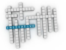 3d Initiative Concept word cloud Royalty Free Stock Photography