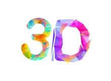 3d Inscrição de letras triangulares Fotografia de Stock