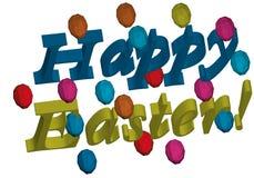 3d inscription Joyeuses Pâques illustration de vecteur