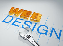 3d inscription web design Royalty Free Stock Images