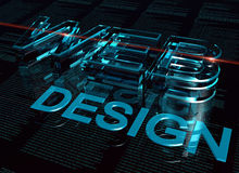 3d inscription web design Stock Photos