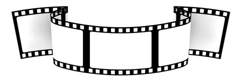 3d: Insegna in bianco del film Fotografie Stock