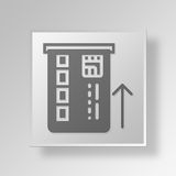 3D insert card Button Icon Concept Stock Image