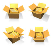3D Inside a box in the icon file folder. 3D Icon Design Series. Stock Images