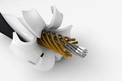 3D inside drut ilustracja wektor