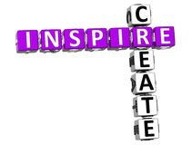 3D inspiram criam palavras cruzadas Fotografia de Stock Royalty Free