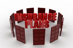 3d insurance plan Stock Photo